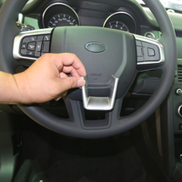 Car Interior Accessories ABS Chrome Steering Wheel Cover Trim for Land Rover Discovery Sport 2015 Car Styling