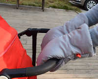 Inverno carrozzina mano muff carrozzina passeggino caldo Della Pelliccia del Panno Morbido copertura della mano buggy Frizione Carrello Muff Guanto passeggino accessori