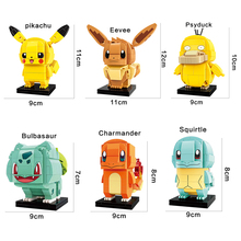 compatible legoinglys Pikachu detective Pocket Monster Eevee,Charmander,Squirtle construction Building blocks kids toys gift недорого