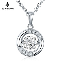 JOWISDOM Birthstone Diamond 100% 925 Sterling Silver Natural Topaz Pendant Necklace Jewelry for Women Necklace collares