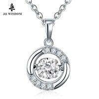 JOWISDOM Birthstone Kim Cương 100% 925 Sterling Silver Natural Topaz Mặt Dây Chuyền Vòng Cổ Trang Sức cho Nữ Vòng collares