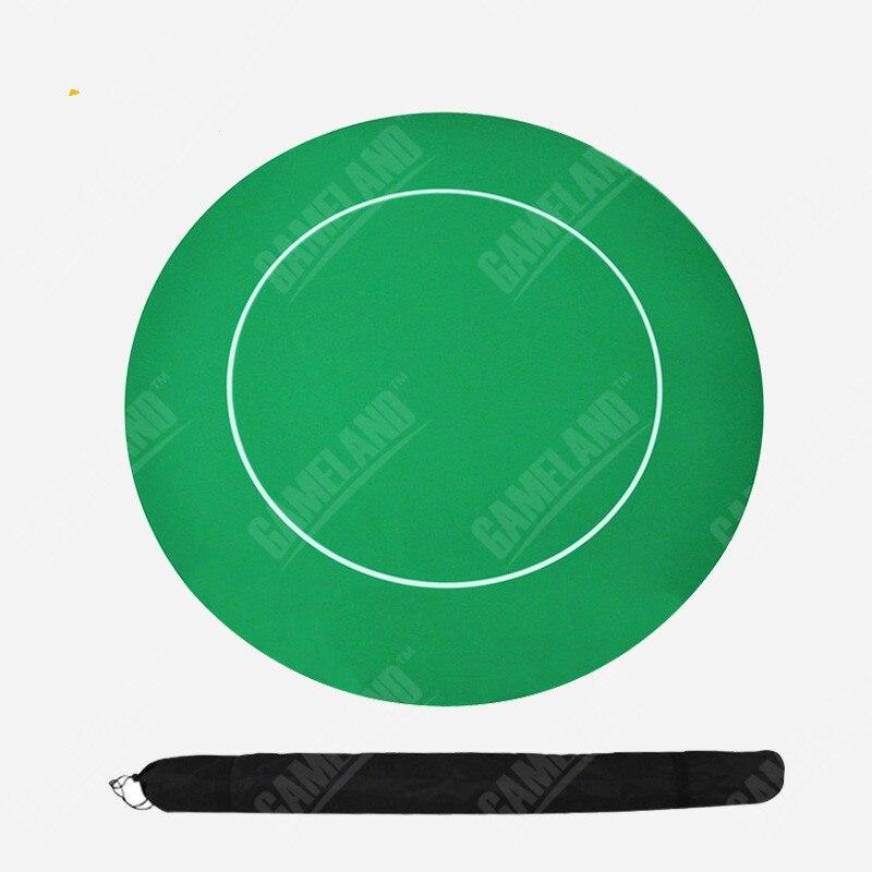 Nappe de Poker circulaire caoutchouc Baccarat vert