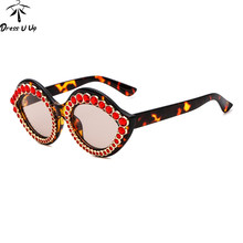 53616f57ae DRESSUUP Crystal Frame Women Cat Eye Sunglasses Diamond Lips Shape Glasses  Brand Designer Eyewear Oculos De Sol Gafas Mujer