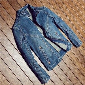 Image 3 - Giacca di Denim di cotone Degli Uomini di Casual Jeans Giubbotti Più Il Formato Mens di Alta Qualità Dellannata Del Denim Cappotti di Modo di Autunno Uomo Abbigliamento A1549