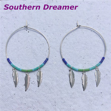 Hoops Circle Beaded Silver