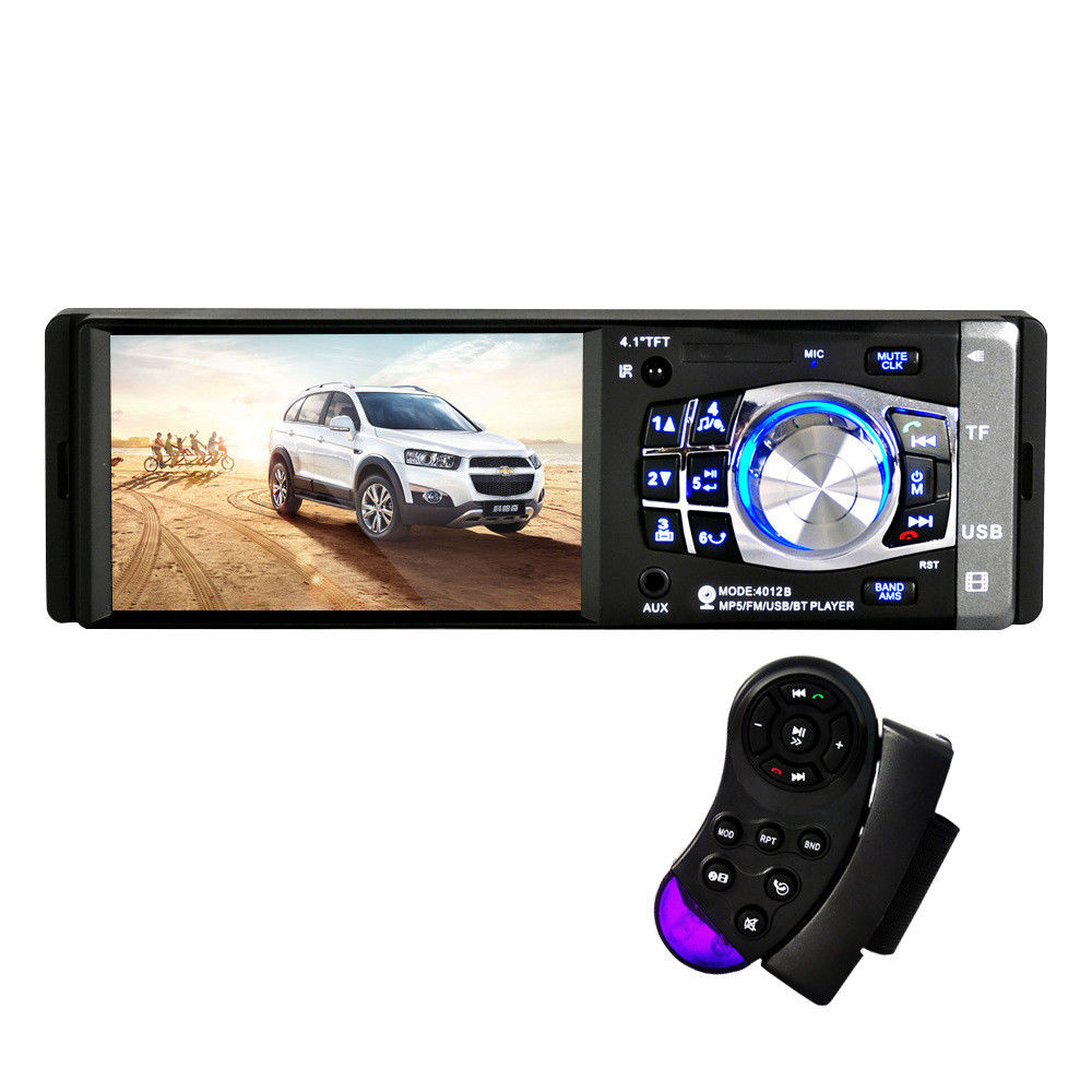 Auto Car MP5 Car Stereo Single Ingot Bluetooth MP5 Player 4.1 Inch Radio Audio Stereo with Bluetooth FM Radio Backing Priority