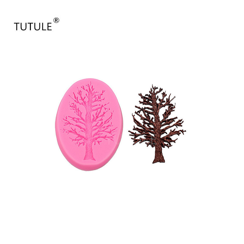 Trees Frozen Cakes Silicone Molds Handmade Chocolate Crafts Molds Cakes Desserts Decorative Molds DIY Bakery Baking Tools new