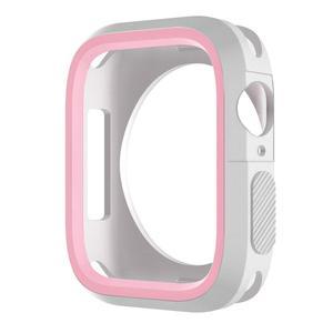 Image 2 - Модный Двухцветный силиконовый чехол для Apple Watch Series 1/2/3, чехол с рамкой, полная защита 42 мм, 38 мм, для i Watch 4, чехол 4