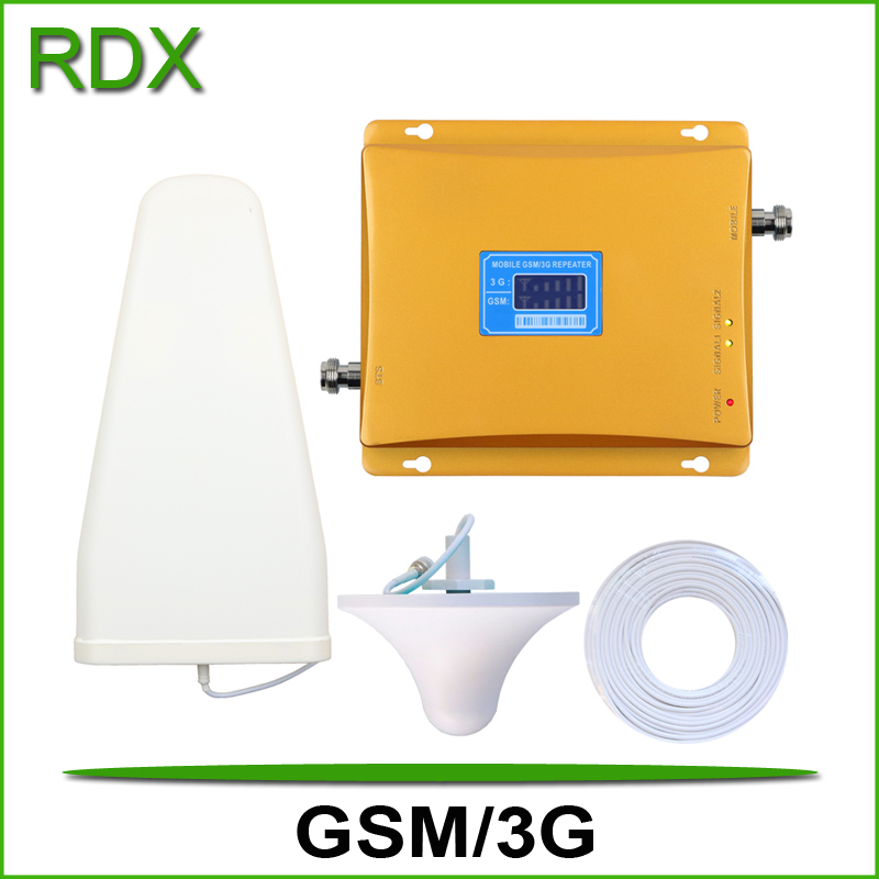 High gain new 65dB lcd display dual band 900 2100 signal repeater cell phone gsm 3g w-cdma 2100mhz UMTS signal booster amplifierHigh gain new 65dB lcd display dual band 900 2100 signal repeater cell phone gsm 3g w-cdma 2100mhz UMTS signal booster amplifier