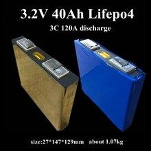 8 шт. перезаряжаемый 3,2 v 40Ah lifepo4 литиевая батарея 3C 120A разряда для детей возрастом от 12 V 24 V 40Ah Ремонтный комплект батарей панели солнечных батарей инвертор