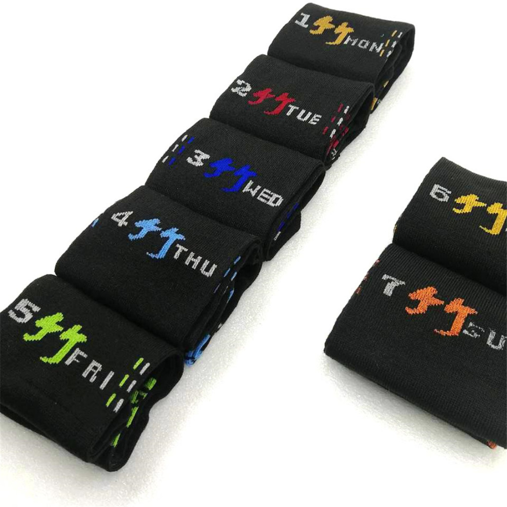7 Pairs/set Men Boys Casual Dress Cotton 7days Week Comfortable Mens Socks