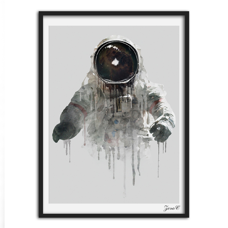 Nordic Style Canvas Art Print Watercolor Paintings Posters and Prints Astronaut Wall Pictures for Home Decoration Wall Decor in Painting Calligraphy from Home Garden