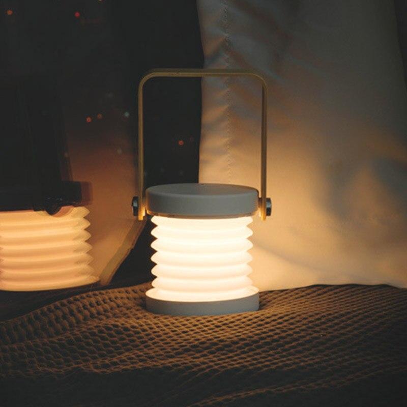 Image 5 - Nowa kreatywna drewniana rączka przenośna latarnia lampa teleskopowa składana lampa stołowa led ładowanie lampka nocna lampka do czytaniaLampy na biurko   -