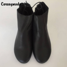 Free shipping,The winterand autumn 2016 new handmade Top layer Genuine leather boots Retro Leather shoes Sen girls style