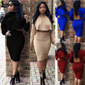 Summer Sexy Club Women Dress Casual Vestidos Party Plus Size Sexy Dress Backless Midi Dress Hollow Out 2 piece Bandage Dresses