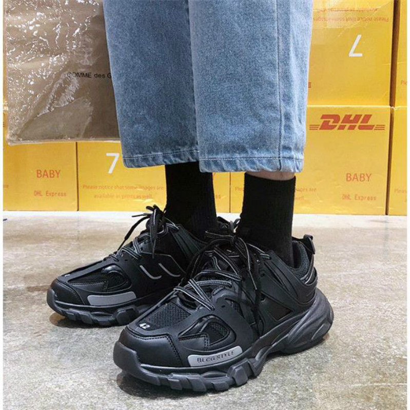 Designer Hip Hop <font><b>Mens</b></font> <font><b>Shoes</b></font> Casual <font><b>Shoes</b></font> <font><b>Men</b></font> Tenis Sapato Masculino triple-s High Top chunky Sneakers Basket Man <font><b>Shoes</b></font> image