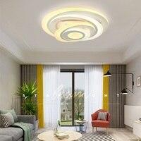 Круглые потолочные светильники для спальни  креативные Многослойные модные светильники для ресторанов  светодиодные акриловые потолочные...