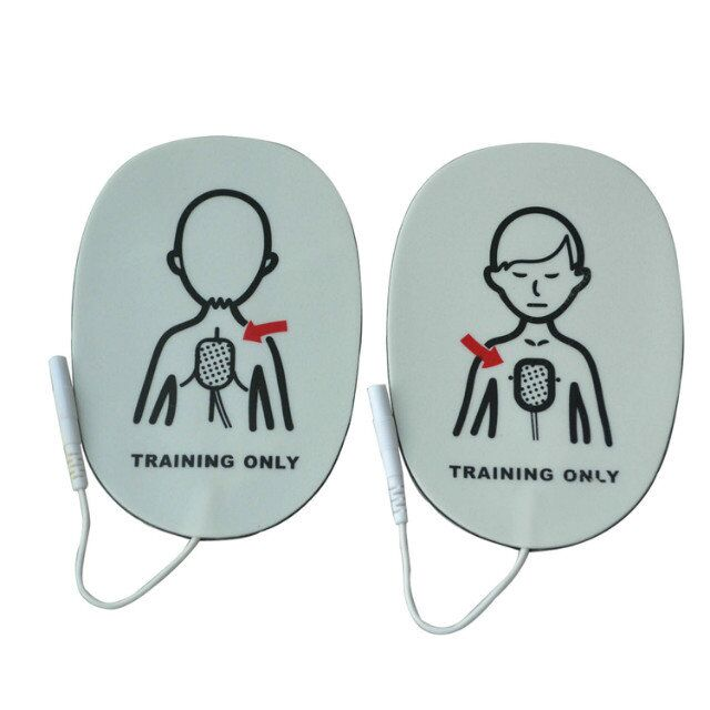 Hot  100 Pairs/Pack Children AED Training Machine Electrode Pads Replacement Simulated first Aid Training AED Patches two color choices mt50 with usb and sensor solar regulator 20a mppt tracer2210a for 12v 24v auto work