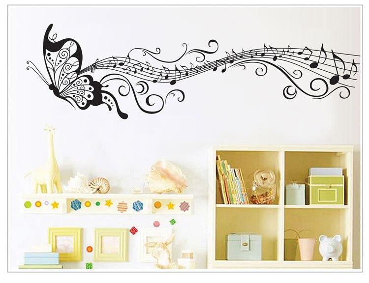 50 unids/pack grande mariposa pared pegatina Mural calcomanía niños dormitorio decoración guardería cita familiar