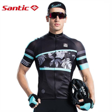 New Santic Mens Spring Summer Cycling Jersey Breathable Quick Dry MTB Road Bike Shirts Short Sleeve Anti-Sweat Bicycle Clothing стоимость