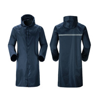 1PC Long Siamese Fashion Adult Raincoat Outdoor Post Hooded Hiking Poncho 3D