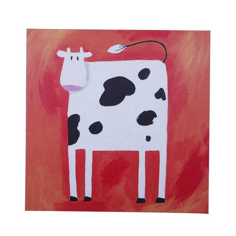 Peint à la main Animal peinture à l'huile sur toile abstraite drôle vache papier décor à la maison mur Art photo à la main rouge acrylique peintures