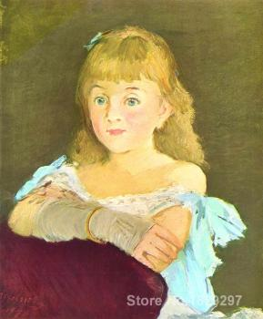 Portrait Painting Portrait of Lina Campineanu by Edouard Manet Canvas High quality Hand painted