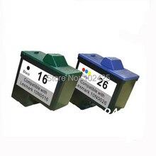 For Lexmark 16 26 Ink Cartridge for Lexmark I3 Z13 Z23 Z25 Z35 Z515 Z517 Z615 X1100 X1150 X2250 X75 X1200 X1290 Z612 Z614 Z615(China (Mainland))