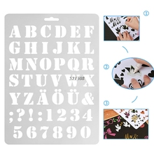 2017 Letter Alphabet Number Layering Stencils Wall Painting Scrapbooking Stamps Album FEB23 30