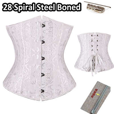 64d26f8e608 ... 2018 New Fashion 24 spiral steel boned Corset Underbust Corsets And  Bustiers tight lacing Waist Trainer ...