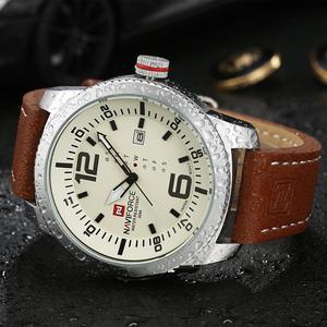 Image 4 - 2019 Luxe Merk Naviforce Datum Quartz Horloge Mannen Casual Militaire Sport Horloges Lederen Horloge Mannelijke Relogio Masculino Klok
