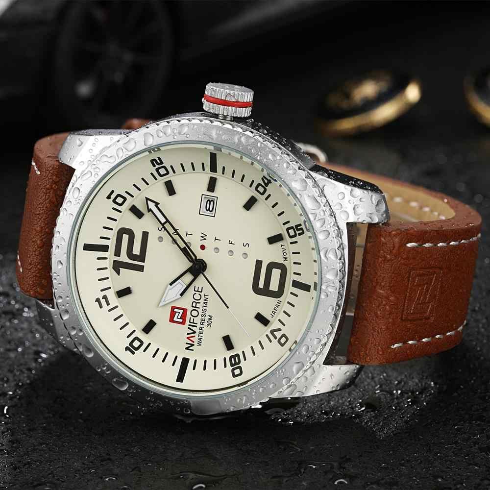 2019 marque de luxe NAVIFORCE Date montre à Quartz hommes décontracté militaire sport montres en cuir montre-bracelet mâle Relogio Masculino horloge