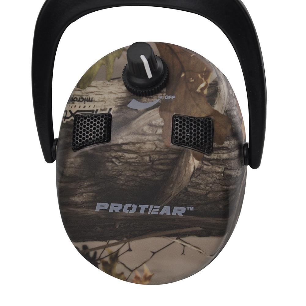 Электронные Наушники Protear, защита ушей для стрельбы, охоты, наушники с принтом, тактическая гарнитура, защита слуховых ушей, наушники для охоты-1