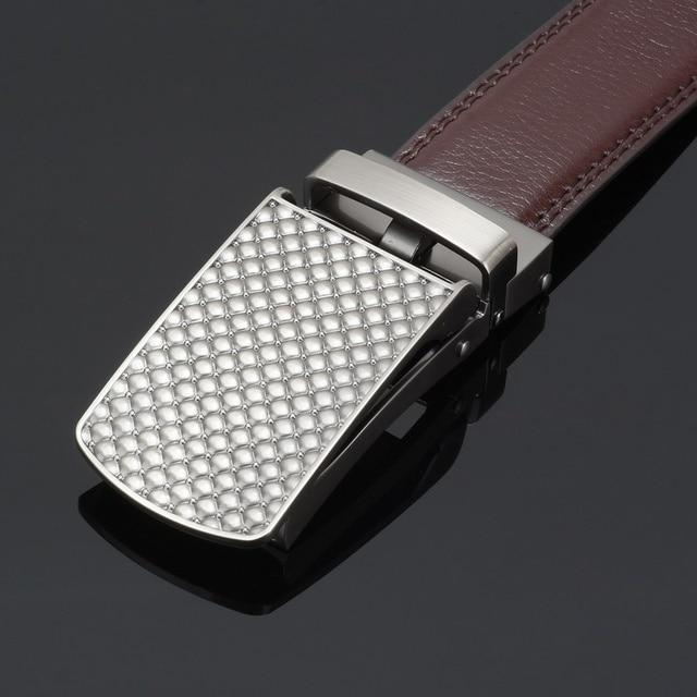 New Men's Luxury Automatic Buckle Leather Belt