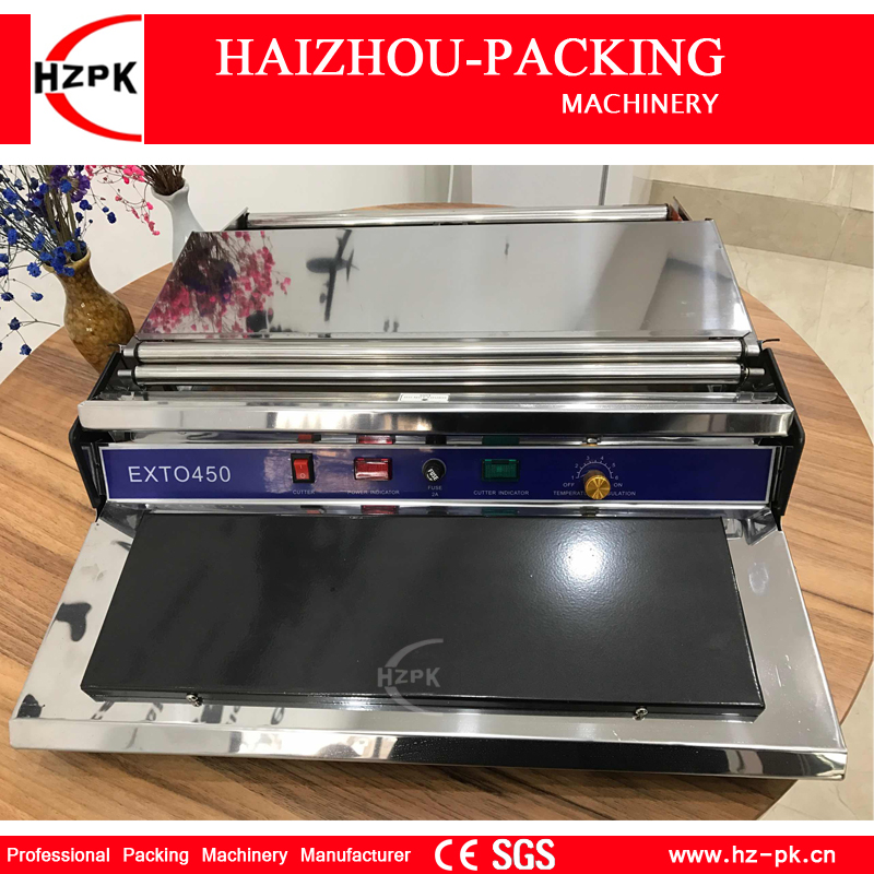 HZPK Manual Wrapping Machine Hand Wapper Packing Machine Fresh Plastic Film Wrapper For Fruits And Vegetables Preservation 45cm multi function hand shredder for fruits and vegetables