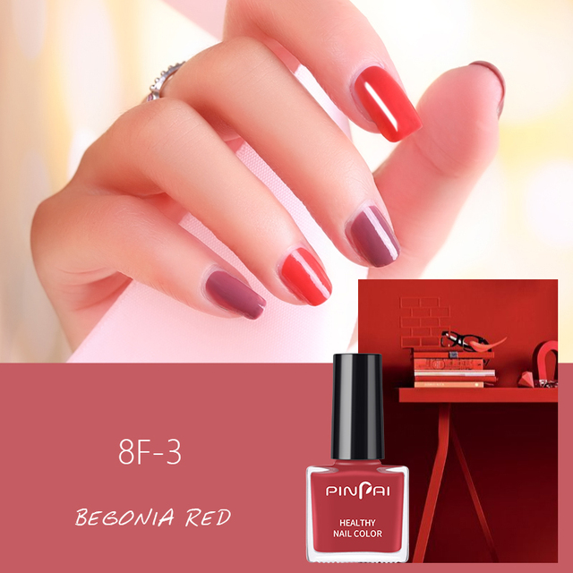 PinPai 6ml Water Based Peel Off Nail Polish Long Lasting Easy Remove Nail Paint Lacquer Enviromental Manicure Red Color Varnish 2