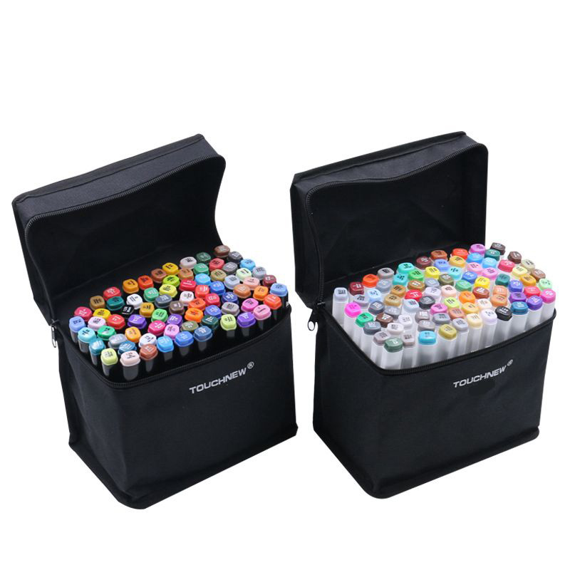 Permanent Fabric Markers 24/36/60 Colors Artist Dual Head Sketch Set For Marker School Drawing Marker Pen Painting Design Art touchnew 60 colors artist dual head sketch markers for manga marker school drawing marker pen design supplies 5type