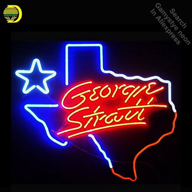 Coors Light George Strait Texas Neon Sign neon bulb Sign Glass Tube neon lights Recreation Iconic Sign Advertise Windows Wall