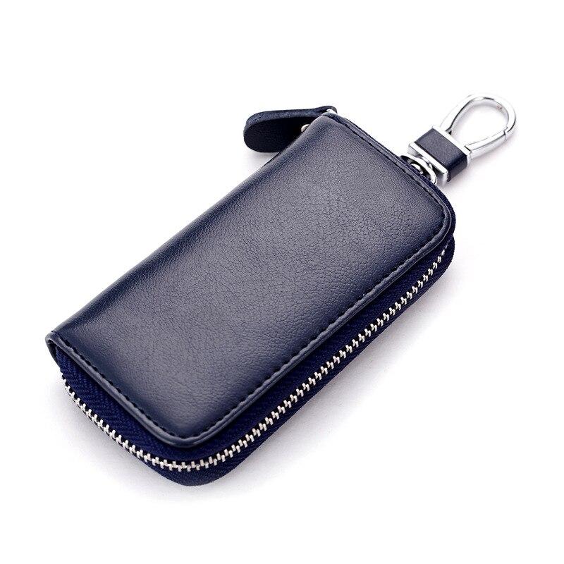 Men Women Car Key Holder Wallets Cow Leather Housekeeper Card Zipper Case Keys Organizer Money Bag WML99 metal key holder organizer 28 ring set