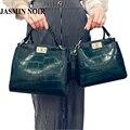 Sacos crossbody para as mulheres Novas mulheres Mensageiro saco de couro de crocodilo mini cat femme sac a principal bolsa de ombro bolsa de marque