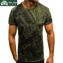 Summer T Shirt Men Military Printing O-Neck Top Tee Casual Fashion tee