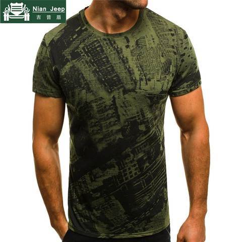 Summer T Shirt Men Military Printing O-Neck Top Tee Casual Fashion tee shirt homme Brand Fitness Tshirts Male Short Sleeve M-3XL Pakistan