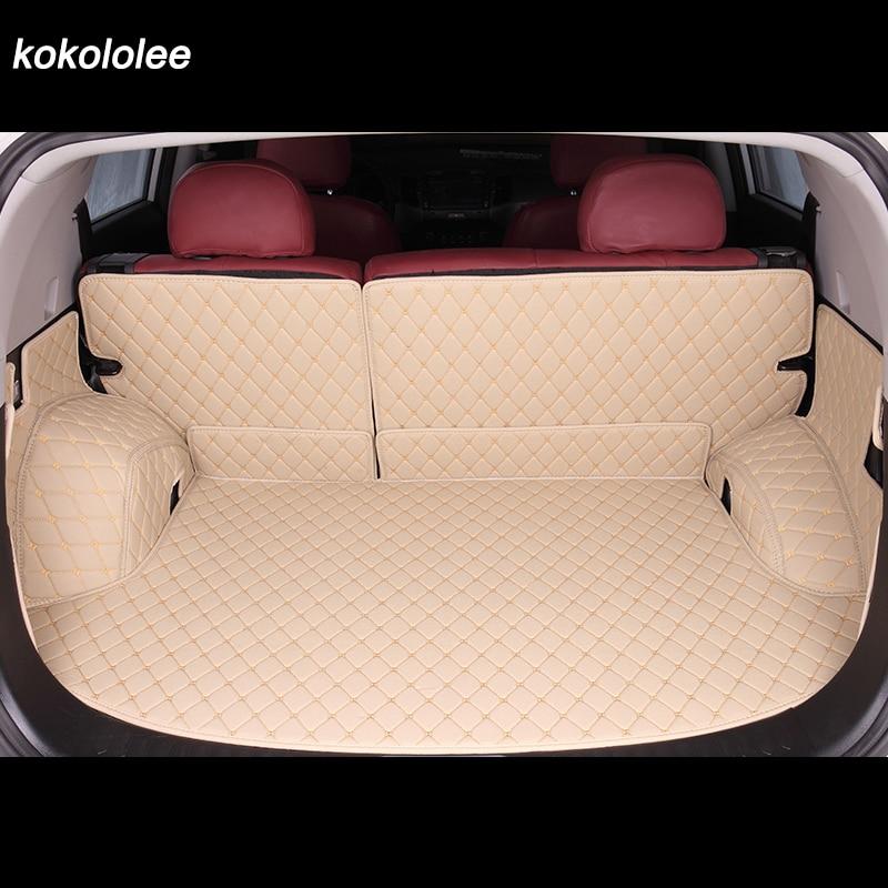 Kokololee пользовательские багажник автомобиля коврик для Audi все модели A3 Q5 Q3 Q7 A5 A7 SQ5 A8 Тюнинг автомобилей Авто аксессуары пользовательские гру