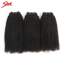 Sleek Hair Products Peruvian Non Remy Afro Kinky Curly Hair 100% Human Hair Weave Bundles Deal Natural Black Color Only One Pc