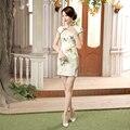 New Arrival Chinese Ladies' Rayon Satin Qipao Cheongsam Traditional Evening Dress Sexy Mini Summer Dress S M L XL XXL LGD37