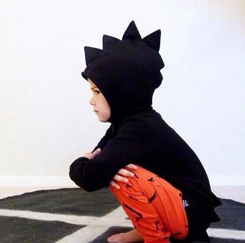 Обувь для мальчиков и куртка для девочек 2018 осень-зима дети динозавров пальто с капюшоном для маленьких мальчиков верхняя одежда с длинными...