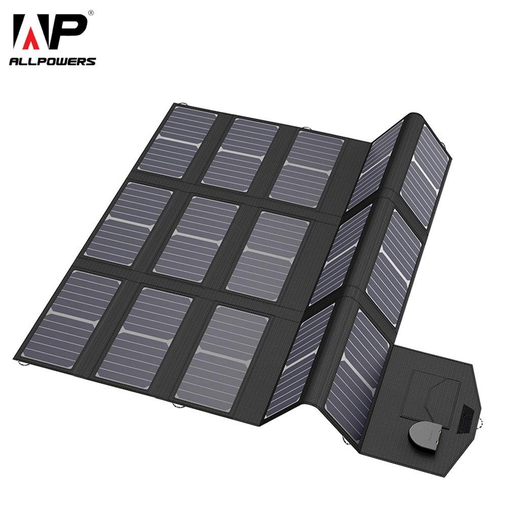 ALLPOWERS Handy Ladegeräte Smartphone Ladegerät 5 v 12 v 18 v 100 W USB DC Solar Panel Batterie Pack für Laptop Tablet Handys