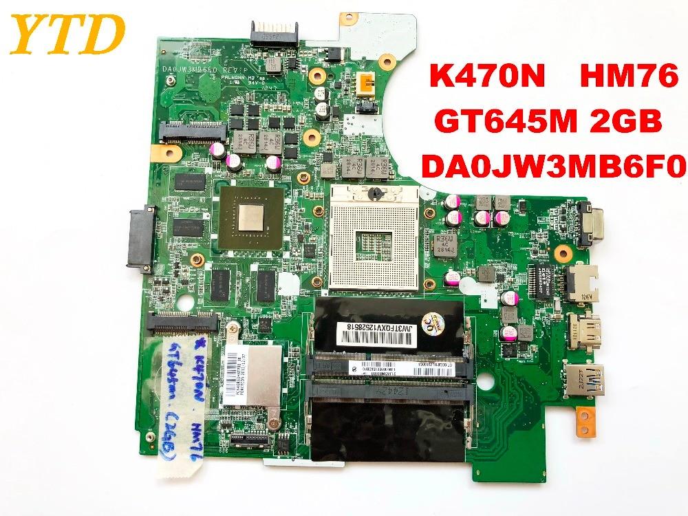 Original pour Hasee K470N ordinateur portable carte mère K470N HM76 GT645M 2GB DA0JW3MB6F0 testé bons connecteurs d'expédition gratuite