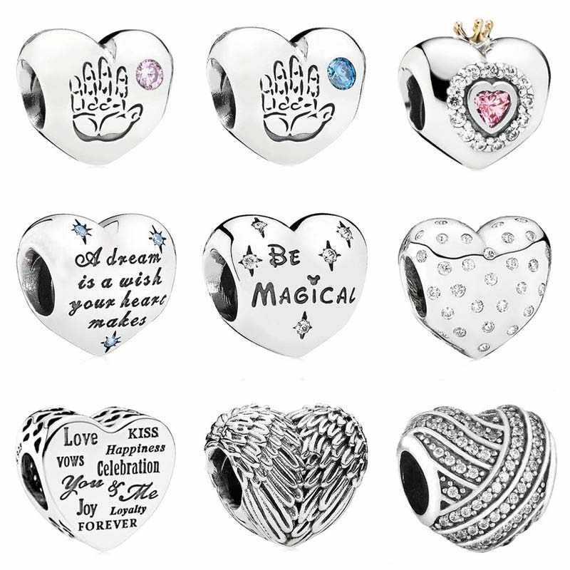 7c502b011 Baby Boy & Girl Cinderella's Dream Celebration Princess Love Heart Charm  Fit Pandora Bracelet 925 Sterling