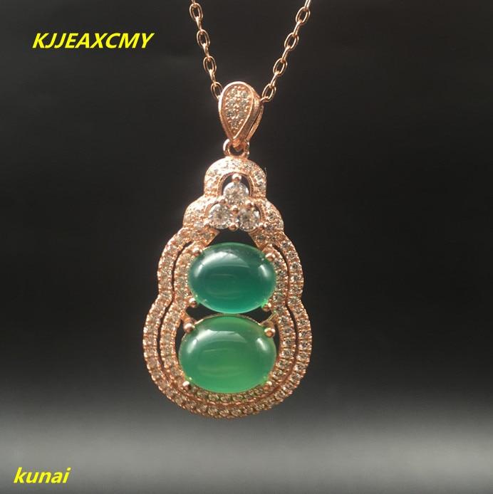 Kjjeaxcmy бутик Jewels Серебро 925 натурального нефрита порошок с ожерелье может отправить зеленый asde ...